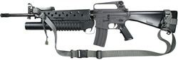M-16 / AR-15 with Side Mounted Front Sling Swivel - Raider 2 Point Tactical Sling