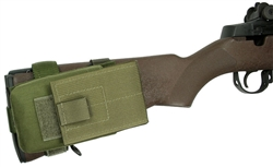 M-14 Buttstock Magazine Pouch, Holds (1) 20 round 7.62 x 51mm Magazine, Rear Adapter Provided