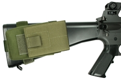 7.62NATO AR Rifle Buttstock Magazine Pouch, Holds (1) 20 round 7.62 x 51mm Magazine, Rear Adapter Provided