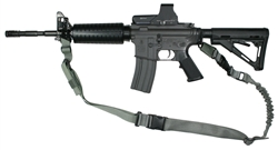TCS Convertible 1 or 2 Point Tactical Sling, Steel Hook Attachment Version