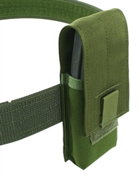"Belt Mounted Single 30 rd. 5.56mm Flapped Magazine Pouch - Fits 2"" Duty & Tactical Belts"