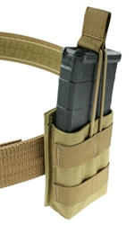 "Belt Mounted Single 30 rd. 5.56mm Rapid Reload Magazine Pouch - Fits 2"" Duty & Tactical Belts"
