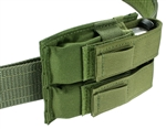 Belt Mounted Double Universal Pistol Mag Pouch - Cross Draw