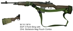M-14 / M1A SOP 3 Point Sling with 20rd. Buttstock Mag Pouch Combo