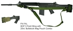 FN FAL SOP 3 Point Sling with 20rd. Buttstock Mag Pouch Combo