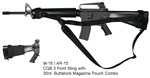 M-16 / AR-15 CQB 3 Point Tactical Sling with 30rd. Buttstock Mag Pouch Combo