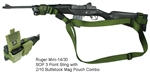 Ruger Mini-14 SOP 3 Point Tactical Sling with 2/10 Buttstock Mag Pouch Combo
