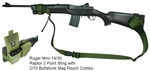 Ruger Mini-14 Raptor 2 Point Tactical Sling with 2/10 Buttstock Mag Pouch Combo