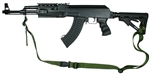 AK-47 With Magpul M-4 Type Stock Raptor 2 Point Tactical Sling