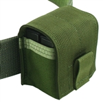 "Belt Mounted Double 10 rd. Mini-14 / Mini-30 Flapped Magazine Pouch - Fits up to 2"" wide belts"