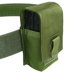 "Belt Mounted Double 20 rd. 5.56mm Flapped Magazine Pouch - Fits up to 2"" wide belts"