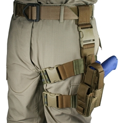 Tactical Thigh Holster, Fits 1911 Series Handguns, Left Hand, USAF ABU Camo