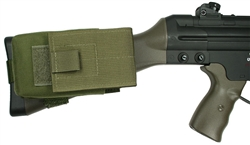 HK91 / G3 Buttstock Magazine Pouch, Holds (1) 20 round 7.62 x 51mm Magazine, Rear Adapter Provided