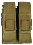 Belt Mounted Double Universal Pistol Mag Pouch - Vertical Draw