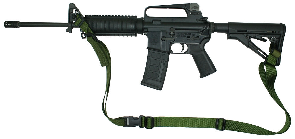 M-4A1 with Magpul Collapsible Stock Raptor 2 Point Tactical Sling