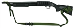 "Mossberg 500 With Hogue 12"" LOP Stock Raptor 2 Point Tactical Sling"
