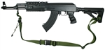 AK-47 With Magpul M-4 Type Stock Raider 2 Point Tactical Sling